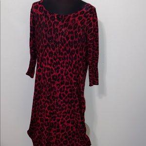 Lane Bryant Animal Print Sweater Dress size 18/20